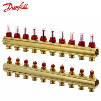 купить Коллектор распределительный DANFOSS FHF-10+10F с ротаметрами 2шт в Кишинёве