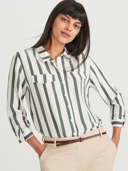 Блуза RESERVED Белый в полоску xa570-mlc