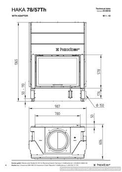 Каминная топка - HOXTER HAKA 78/57Тh