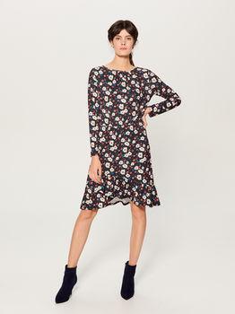 Платье MOHITO Черный в цветочек