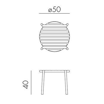Столик журнальный Nardi DOGA TABLE BIANCO 40042.00.000 (Столик журнальный для сада и террасы)