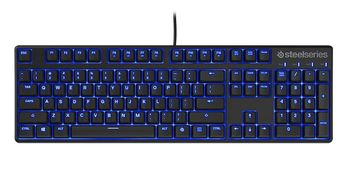STEELSERIES Apex M500 / Mechanical Gaming Keyboard (Cherry MX Red Mechanical Gaming Switches), Blue LED Illumination with 3 settings, Full programmable keys, Anti-Ghosting 24 keys, Cable lenght 2m, USB, UK Layout