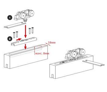 Комплект роликов для раздвижных дверей 40 кг Terno Scorrevoli
