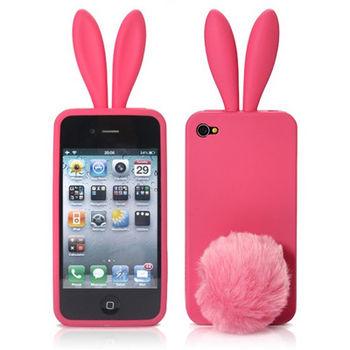 Чехол Заяц для iPhone 4 / 4S розовый