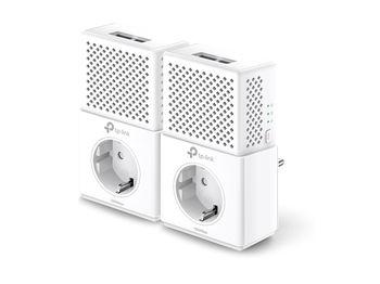 TP-LINK  TL-PA7020 Kit, AV1000 Powerline Adapter Starter Kit with AC Passthrough, Compact Size, 1000Mbps Powerline Datarate, 2 Gigabit LAN Port, HomePlug AV, Green Powerline,  Plug and Play, Pair Button, Range 300 meters in house