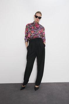 Блуза ZARA Цветочный принт 8431/156/330