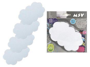 """Набор ковриков для ванны 4шт 9X14.5cm """"Облака"""" белые"""