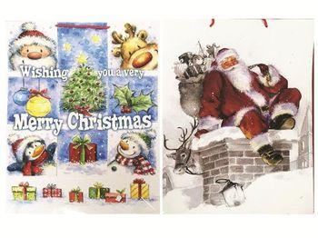 Пакет подарочный 56X40cm рождественский рисунок