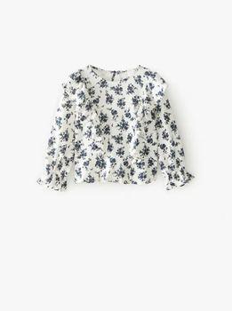Блуза ZARA Белый с принтом 0594/602/712