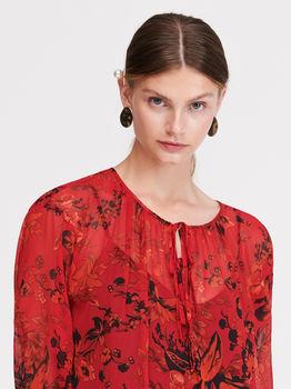 Платье RESERVED Красный с принтом