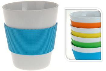 Чашка 350ml, в форме стакана, резиновый держатель, керамика