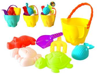 """Набор игрушек для песка в ведерке """"Слон"""" 7ед, 26X16cm, 2цвет"""