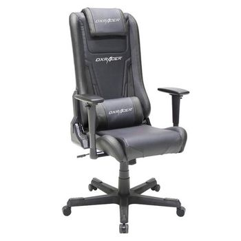 Office Chairs DXRacer - Elite OH/EA01/N, Gamer weight 70kg/height 170cm, Leather Style Vinyl Cover - Black/Black/Black, Foam Density 50kg/m3, 5-star 5-star Nylon Base, Gas Lift 4Class, Tilt Mech-Angle 135*, Adjustable Arms-3D, Pillow-2,Caster-3, 25kg