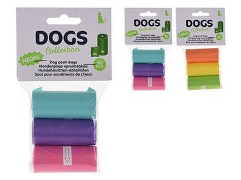 Пакеты для выгула собак Dogs 3рулонаX15шт, 30X23cm