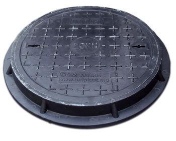 купить Крышка с рамой для колодца ф.500/ 2т  чёрн. (560x55x14kg) в Кишинёве