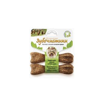 Зубочистки для собак мелких пород со вкусом курицы  2x18 gr