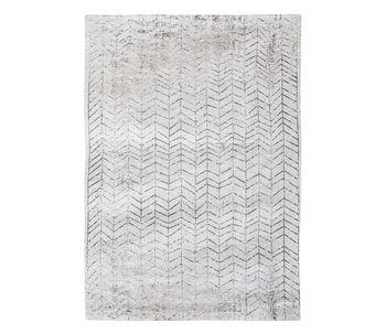 Ковёр ручной работы LOUIS DE POORTERE Mad Man Black on White 8652