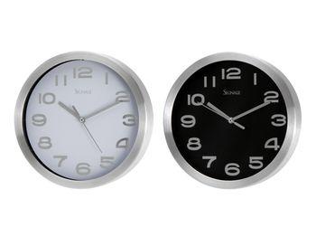 купить Часы настенные круглые D20.3cm, металл, цвет белый/черный в Кишинёве