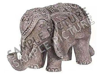 """Статуэтка """"Слон в накидке"""" керамическая 44cm, цвет бронза"""