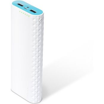 15600mAh Power Bank - TP-Link TL-PB15600, White, Power Capacity: 15600mAh, 2 x 5V/2.4A (max 5V/3A), 6in1 safety features, Smart charging, Maximizing battery performance, LED Flash