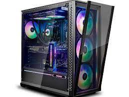 Корпус ATX Deepcool MATREXX 70 ADD-RGB 3F, без блока питания, 4x 120-мм вентилятора (3x RGB + 1x Black), TG, USB3.0, черный