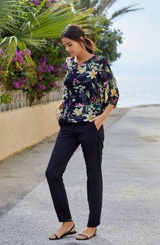 Блуза Fransa Черный с принтом 20605878