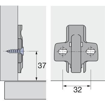 Plăcuță Sensys Top 1,5 mm