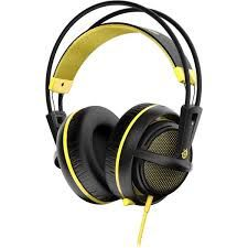 STEELSERIES Siberia 200 / Gaming Headset with retractable Microphone, on the cord volume control, 50mm neodymium drivers, Comfortable, Lightweight, Cable lenght 1.8 m, 3.5mm jack, Yellow