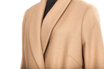 купить Пальто женское Prima Bella с поясом, бежевое, классическое в Кишинёве