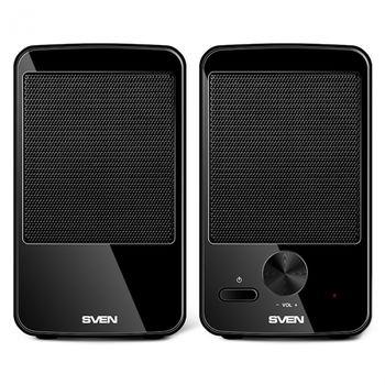 "Speakers SVEN 312 Black (USB),  2.0 / 2x2W RMS, USB power supply, 2.75"""