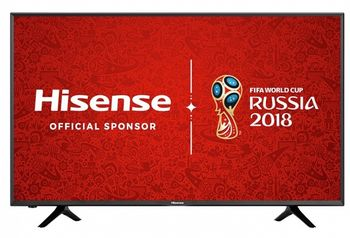 "50"" LED TV Hisense H50N5300, Black (3840x2160 UHD, SMART TV, PCI 1000Hz, DVB-T/T2/C/S2) (50'' DLED 3840x2160 UHD, PCI 1000 Hz, SMART TV (VIDAA Lite 2 OS), 3 HDMI 2.0, 2 USB (foto, audio, video), Display color depth 8bit+FRC, HEVC (H.265),VP9,H.264,M"