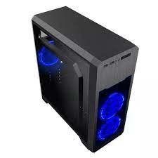 Корпус ATX GAMEMAX G563, без блока питания, 3x120 мм, синий светодиод, полностью прозрачная панель, USB3.0, черный