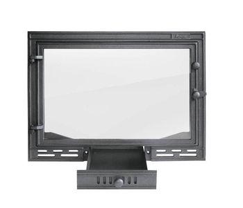 Дверца чугунная со стеклом FPL1