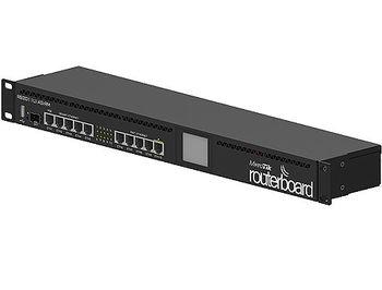 Mikrotik RouterBOARD 2011UiAS (RB2011UiAS-RM ), Atheros 74K MIPS CPU, 128MB RAM, 1xSFP port, 5xLAN, 5xGbit LAN, RouterOS L5, 1U rackmount case, PSU, LCD panel