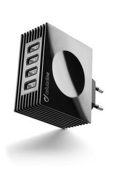 купить CellularLine USB Charger Quad Ultra 4.2A, Black в Кишинёве