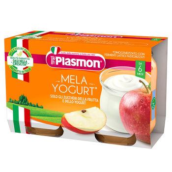 cumpără Plasmon Piure din iaurt cu mere,+6 luni ,2x120 g în Chișinău