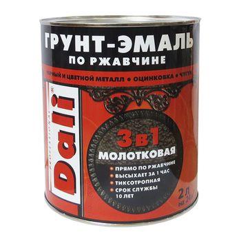 Dali Грунт-эмаль по ржавчине 3в1 Черная 2л