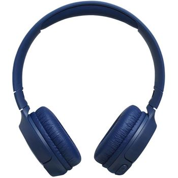JBL TUNE 500BT/ Bluetooth On-ear headphones with microphone,BT Type 4.1, Dynamic driver 32 mm, Frequency response 20 Hz-20 kHz, Call and music controls on earcup, JBL Pure Bass sound, Flat-foldable, Battery Lifetime (up to) 16 hr, Blue
