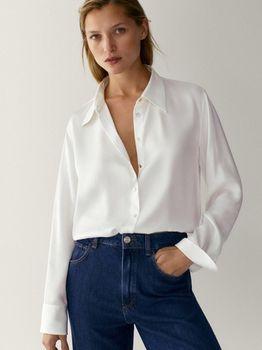 Блуза Massimo Dutti Белый 5142/589/251