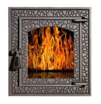 Дверь для печи Рустик маленькая отдельная