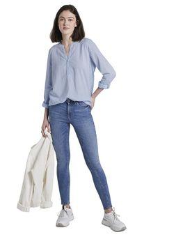 Блуза TOM TAILOR Голубой/Белый 1020713 tom tailor