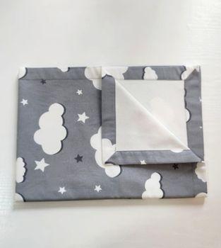 Непромокаемая пелёнка Pampy 50*70 grey cloud
