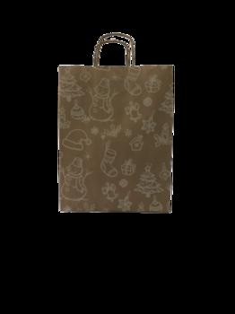 Бумажный пакет новогодний 31*12*41см