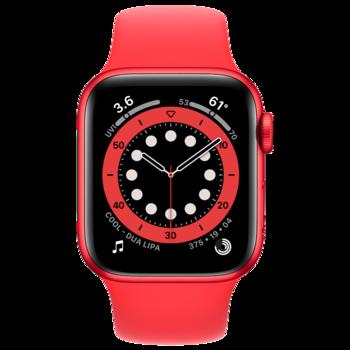 купить Apple Watch Series 6 44mm Red Aluminum Case with Red Sport Band, M00M3 в Кишинёве