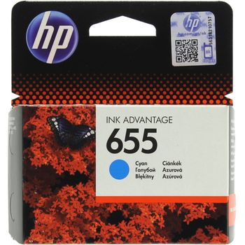 HP №.655 Cyan Ink Cartridge, for Deskjet Ink Advantage 3525, 4615, 4625, 5525, 6525 AiO, 600 pages