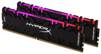 16GB (Kit of 2*8GB) DDR4-4000  Kingston HyperX® Predator DDR4 RGB, PC32000, CL19, 1.35V, BLACK heat spreader, Dynamic RGB effects featuring HyperX Infrared Sync technology, Intel XMP Ready (Extreme Memory Profiles)