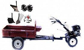 Набор мотоблок TECHNOWORKER HB 700RS PRO+Прицеп RK500 + плуг регулируемый + плуг простой + плуг картофель + металлические колеса 4*8 + мотыга
