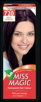 Краска для волос,SOLVEX Miss Magic, 90 мл., 720 - Тёмно-бордовый