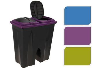 Контейнер для мусора, 2 секцХ25l, 50Х30Х55cm, плас