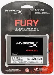 "2.5"" SSD 120GB HyperX FURY 3D, SATAIII, Sequential Reads: 500 MB/s, Sequential Writes: 500 MB/s, Max Random 4k: Read: 84,000 IOPS / Write: 52,000 IOPS, 7mm, Controller Silicone Motion SM2258XT, 3D NAND TLC"